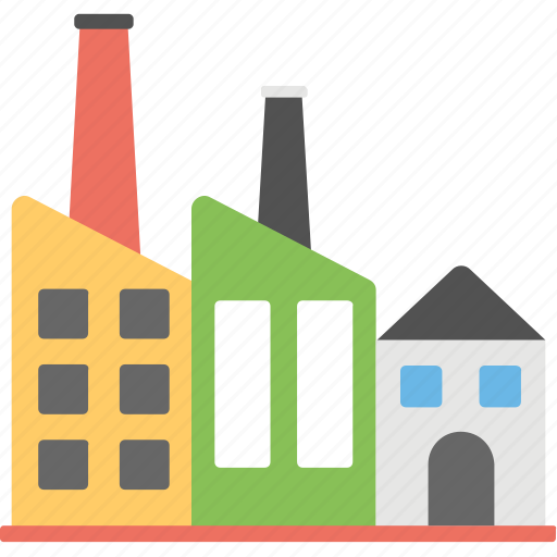 brewery, factory, industrial building, mill, refinery icon