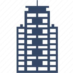 apartment, building, city, office, residential, skyscraper, tower icon
