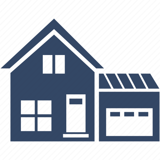 family, garage, home, house, residential icon