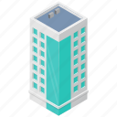 commercial building, government building, insurance building, insurance company, large building icon