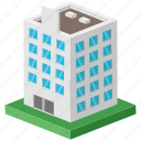 commercial building, modern office, office, office building, office headquarter icon