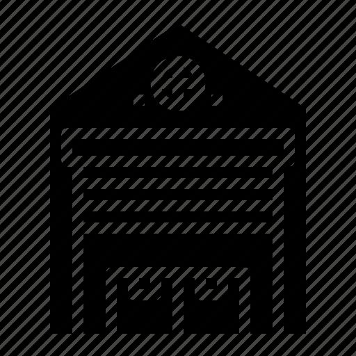 Building, godown, storage, storehouse, warehouse icon - Download on Iconfinder