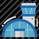 airport, building, transport, transportation icon