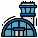 airport, building, transport, transportation icon