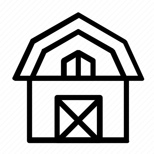 barn, building, farm icon