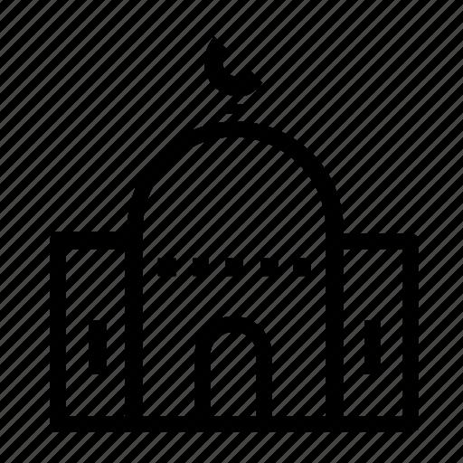 estate, mosque, real, worship icon