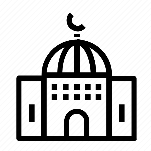 building, mosque, religious, worship icon
