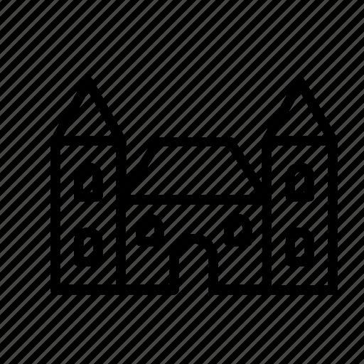 architecture, building, buildings, castle, construction icon