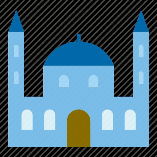 architecture, building, construction, monument, mosque icon