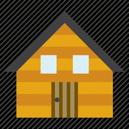 architecture, building, cabin, construction, cottage, hut, wood icon
