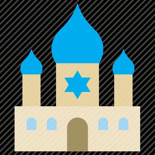 building, jewish, judaism, monument, religion, synagogue, temple icon