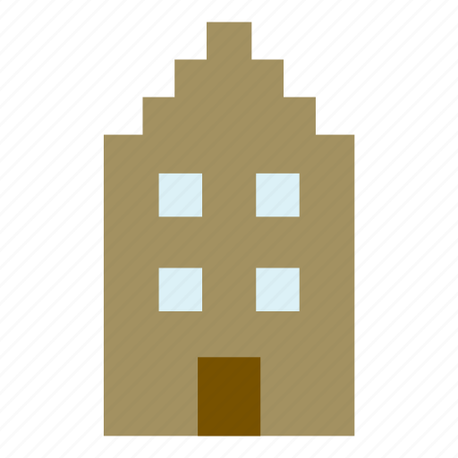 amsterdam, architecture, building, construction, house, monument icon