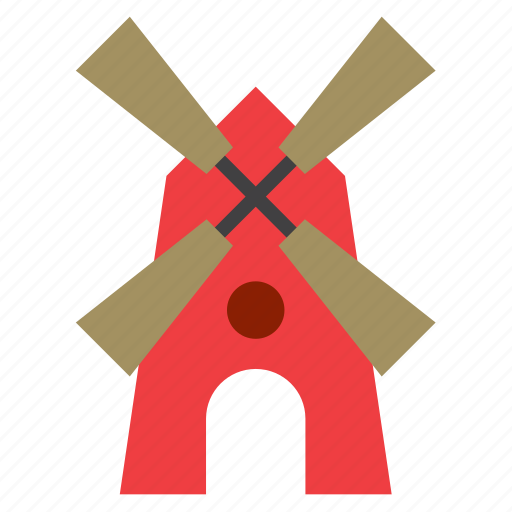 architecture, building, construction, mill, monument, windmill icon