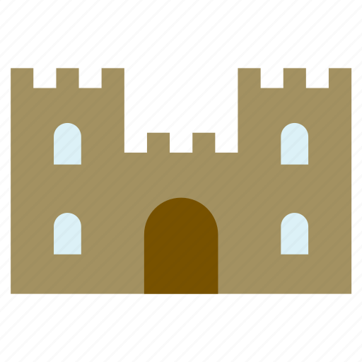 architecture, building, castle, construction, monument, tower, wall icon