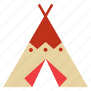 architecture, building, camping, construction, indian, native american, tent icon