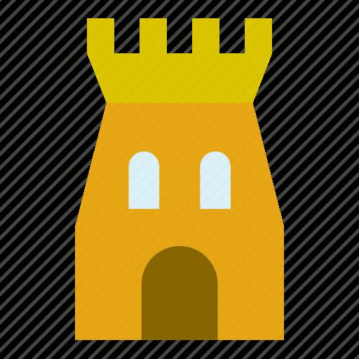 architecture, building, castle, construction, monument, tower icon