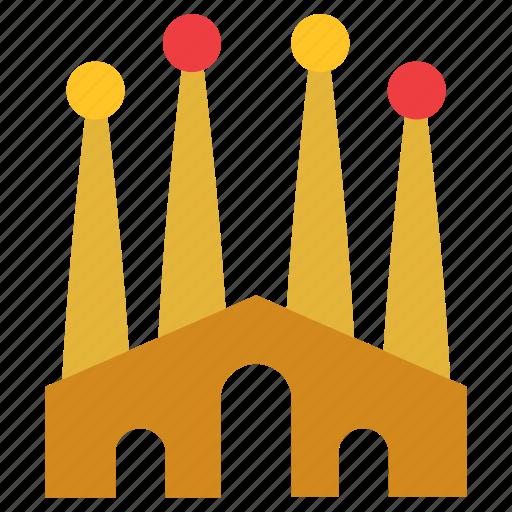 architecture, barcelona, building, construction, monument, sagrada familia icon
