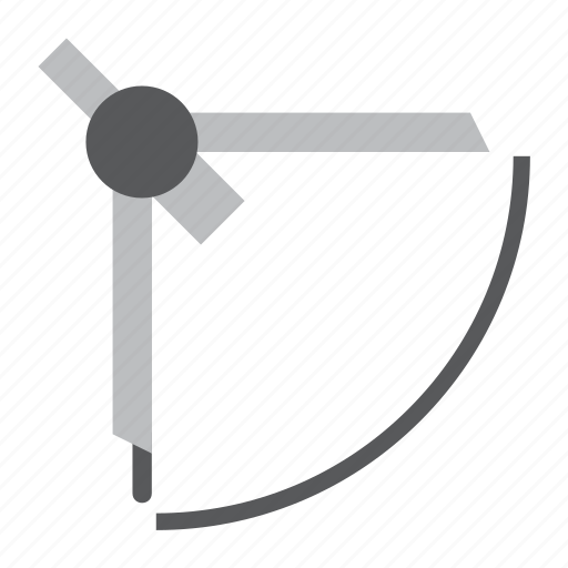 architecture, compass, construction, tool icon