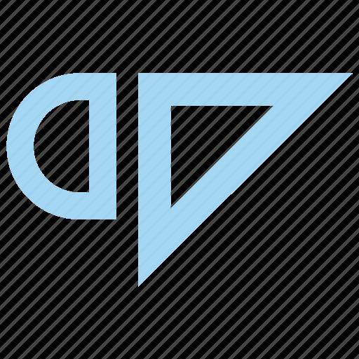 architecture, building, construction, square, tool, triangle icon