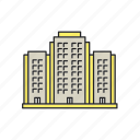 apartment, building, highrise, house, multistorey, real estate icon
