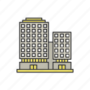 apartment, building, highrise, multistorey, office, real estate icon