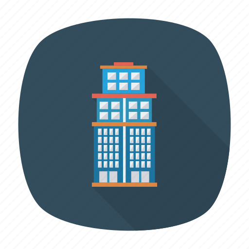 apartment, architect, building, city, estate, real, tower icon