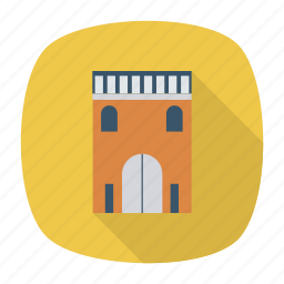 architect, building, estate, home, living, real, residential icon