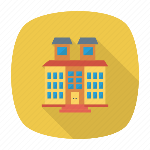 architect, building, estate, hotel, house, real, restaureant icon