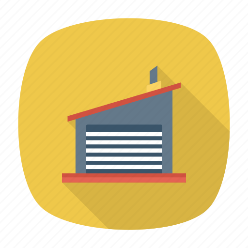 architect, building, estate, garage, industry, real, store icon