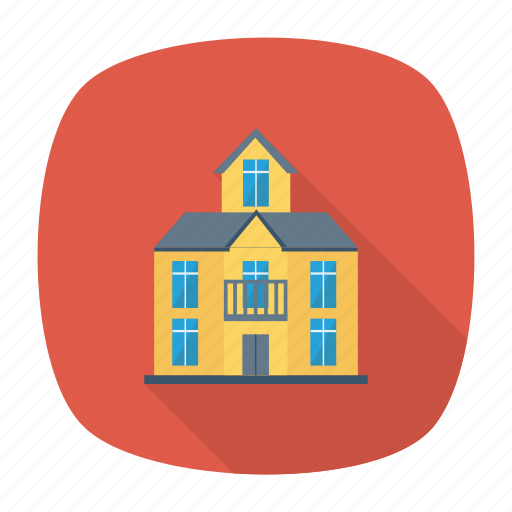 architect, building, estate, hostel, living, real, room icon