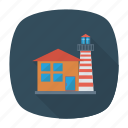 architect, building, estate, home, living, real, tower icon