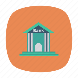 apartment, architect, bank, building, construction, estate, real icon