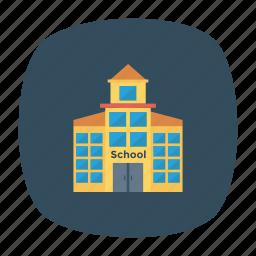 apartment, architect, building, construction, estate, real, school icon