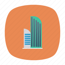 apartment, architect, building, estate, industrial, office, real icon