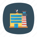 airport, architect, building, estate, real, satelite, tower