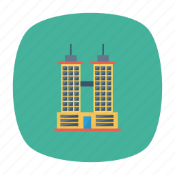 architect, building, business, estate, office, real, tower icon