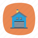 architect, building, estate, garage, mall, real, store icon