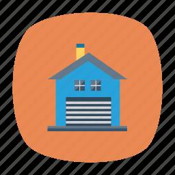 architect, building, estate, garage, mall, real, store icon