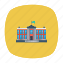 apartment, architect, building, estate, government, real, residential icon