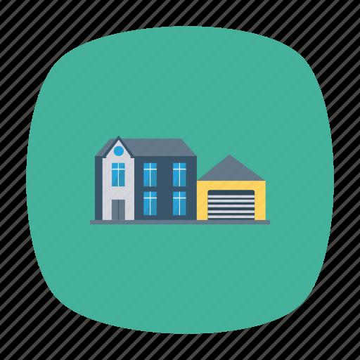 architect, building, estate, garage, hostel, house, real icon