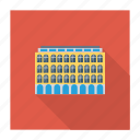 building, real, apartment, estate, hotel, commercial, architect icon