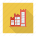 building, real, apartment, estate, office, hotel, architect icon