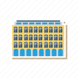 apartment, architect, building, commercial, estate, hotel, real icon