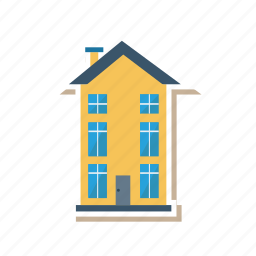 apartment, architect, building, estate, hostel, hotel, real icon
