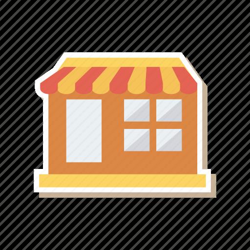 architect, building, commercial, construction, estate, real, shop icon