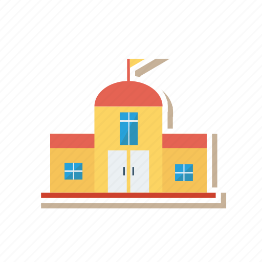 architect, building, college, estate, home, real, school icon