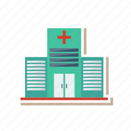 architect, building, clinic, estate, hospital, medical, real icon
