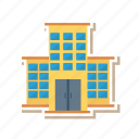 apartment, architect, building, estate, home, living, real icon