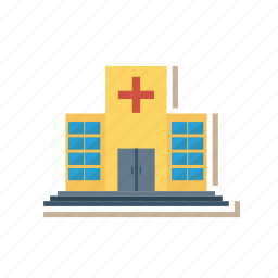 architect, building, clinic, estate, hospital, place, real icon