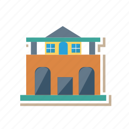 architect, building, commercial, estate, real, store, town icon